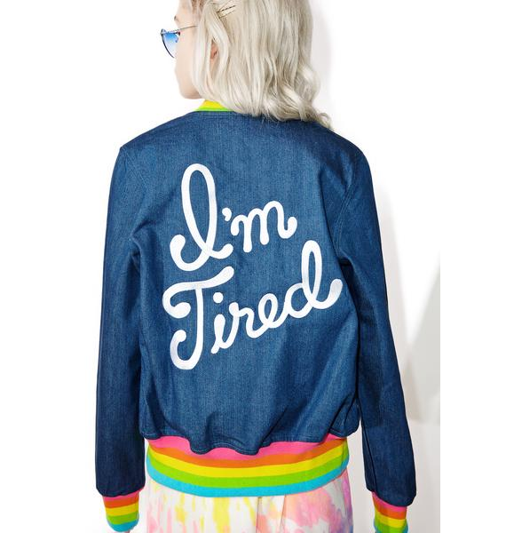 Big Bud Press I'm Tired Denim Jacket