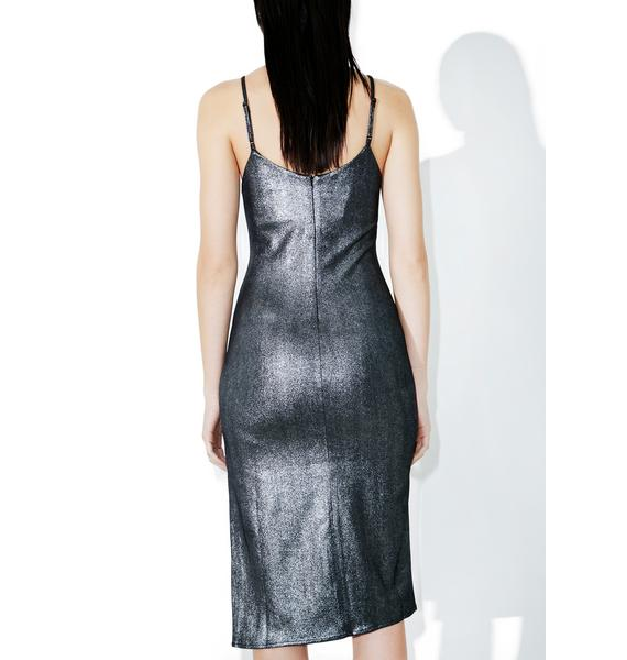 Gunmetal Blitz Slip Dress