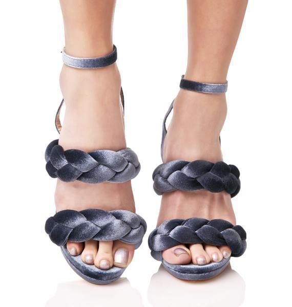 Slate Serpentine Braided Heels