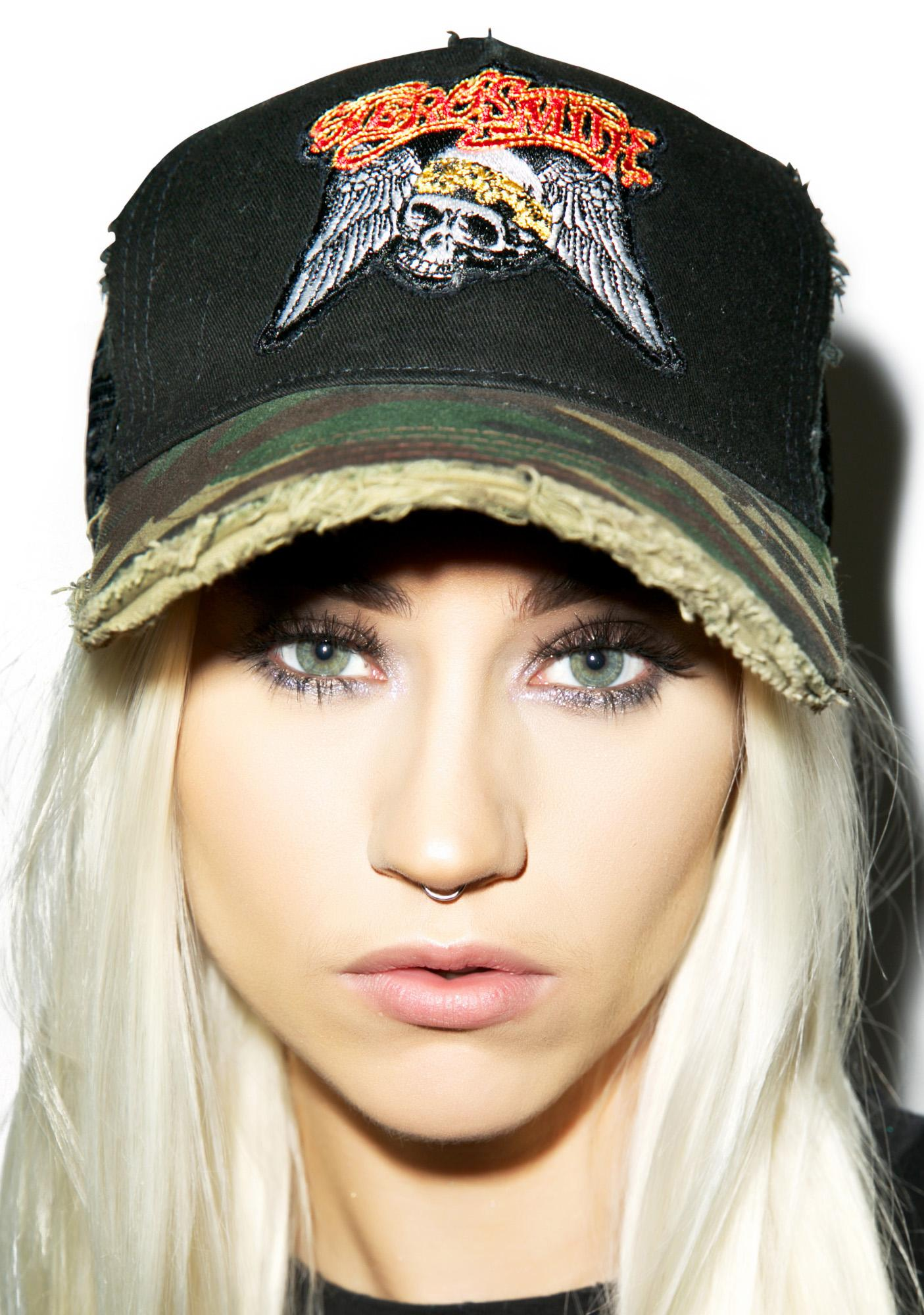 Lauren Moshi Aerosmith Camo Baseball Hat