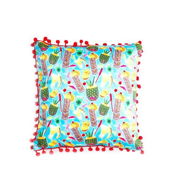 Sourpuss Clothing Tropical Drinks Pillow