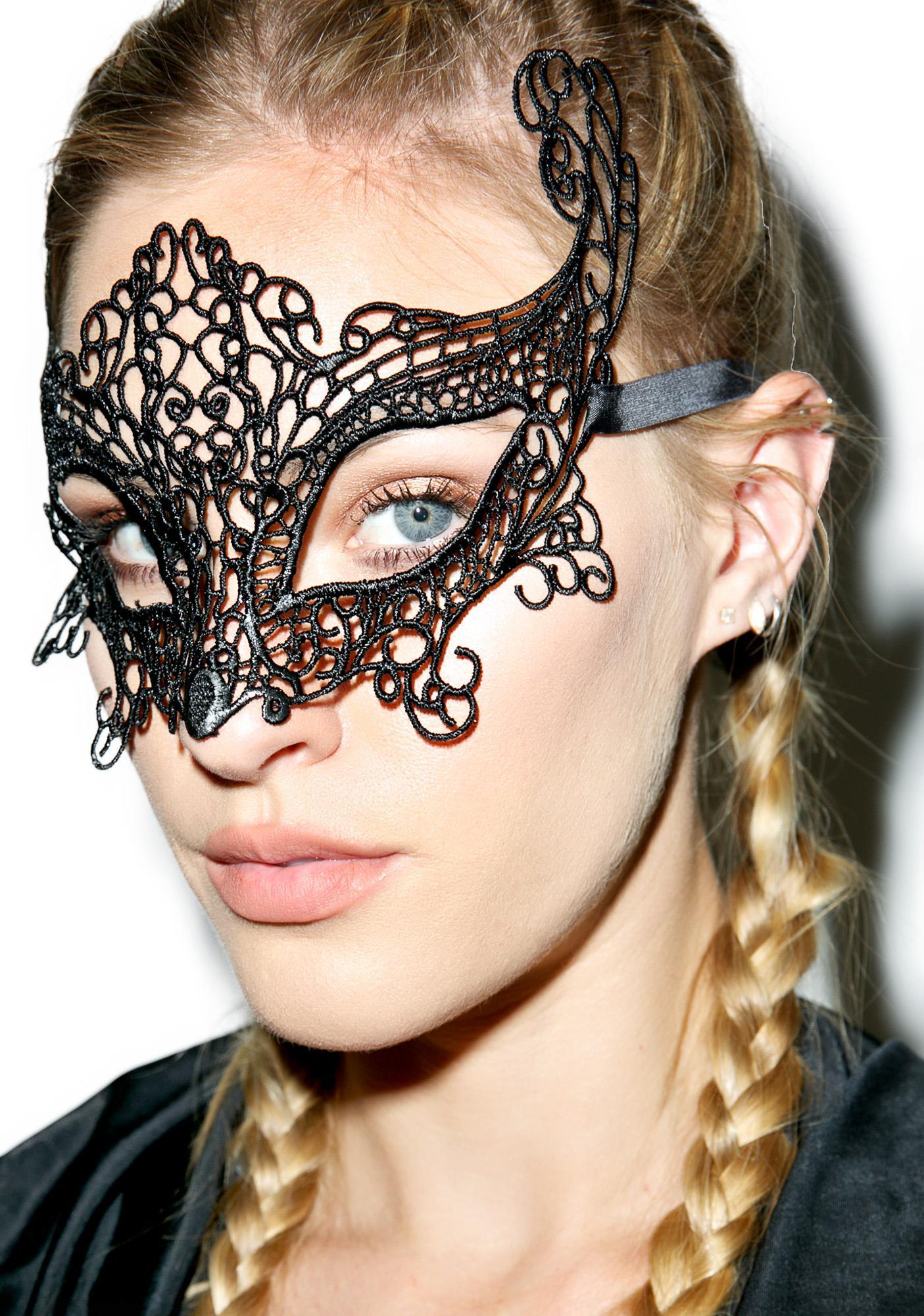 Phantom Lace Masquerade Mask
