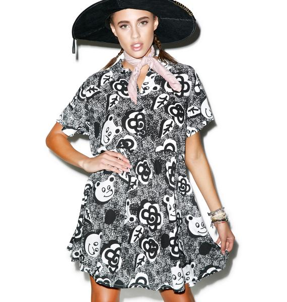 Lazy Oaf Mono Bear Dress
