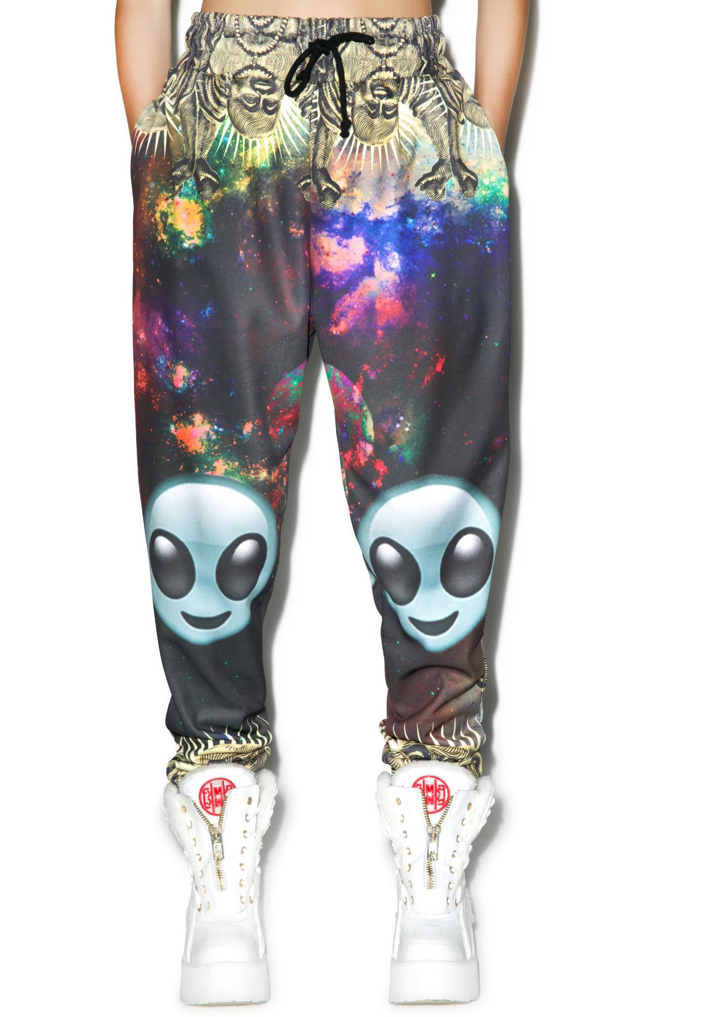 Alien Space Buddha Sweatpants