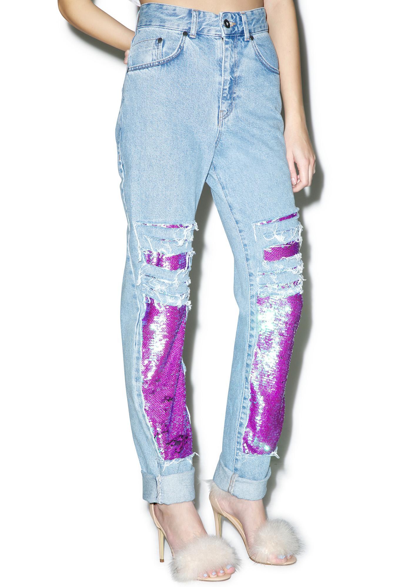 The Ragged Priest Gleam Mom Jeans