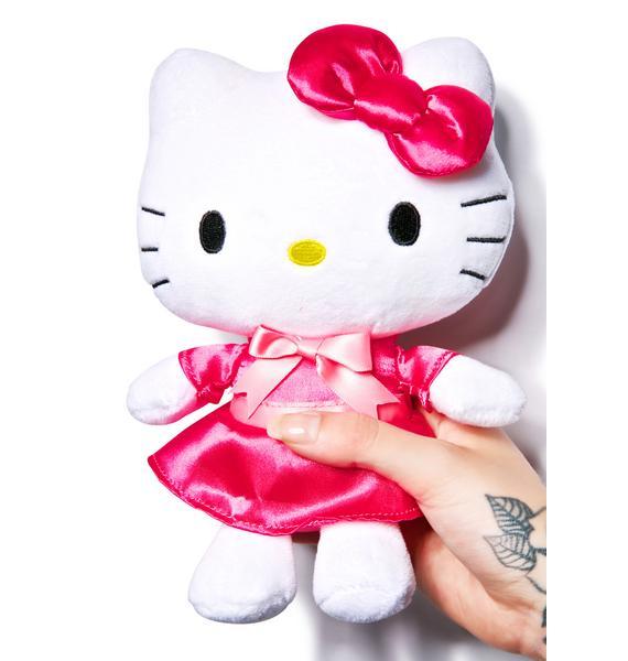 Sanrio Satin Dress Huggable Hello Kitty Plush