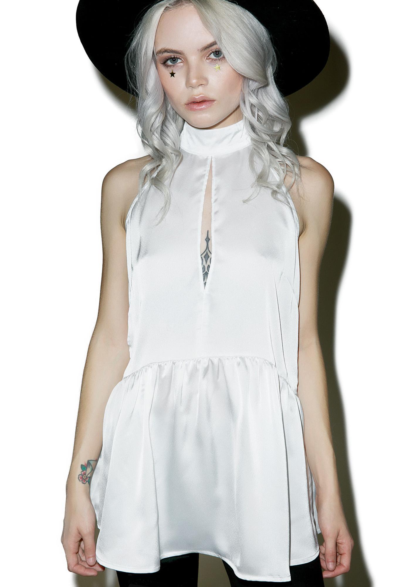 White Noize Halter Top