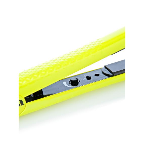 Eva NYC Electric Yellow Ceramic Styling Iron