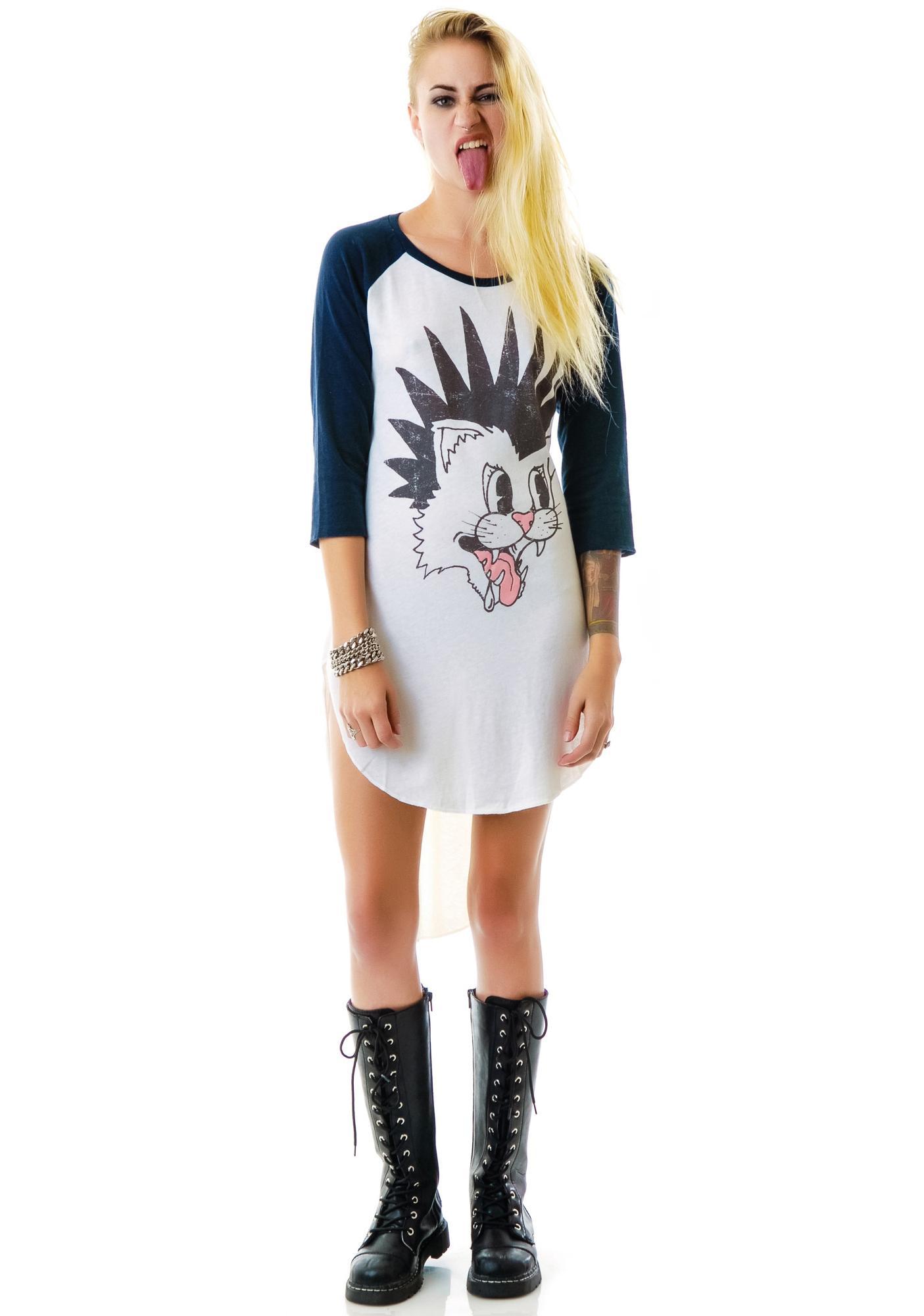 Stray Cats Raglan Dress