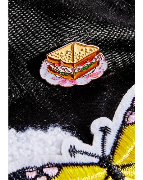 Turkey Sandwich Enamel Pin