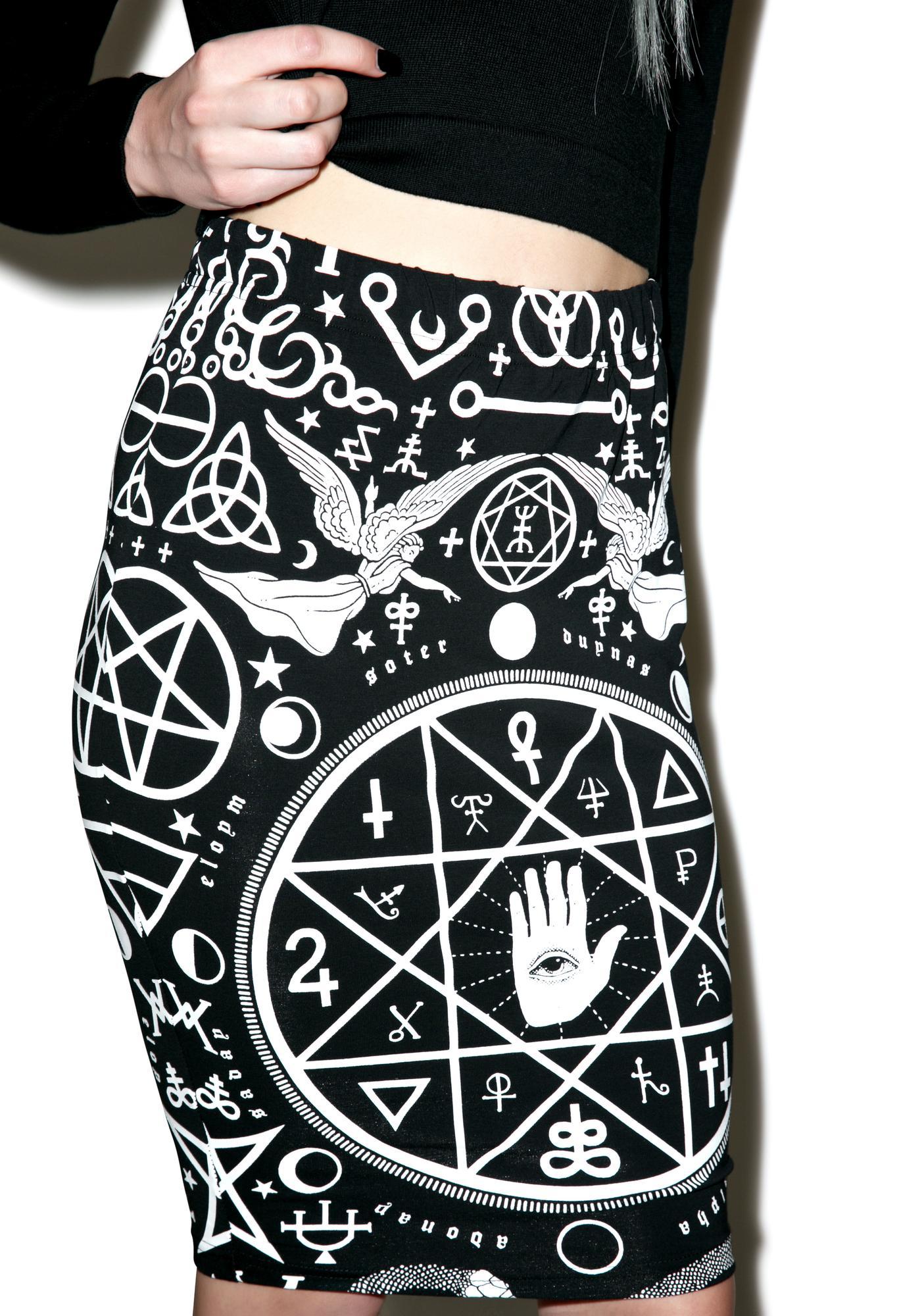 Killstar Cult Pencil Skirt