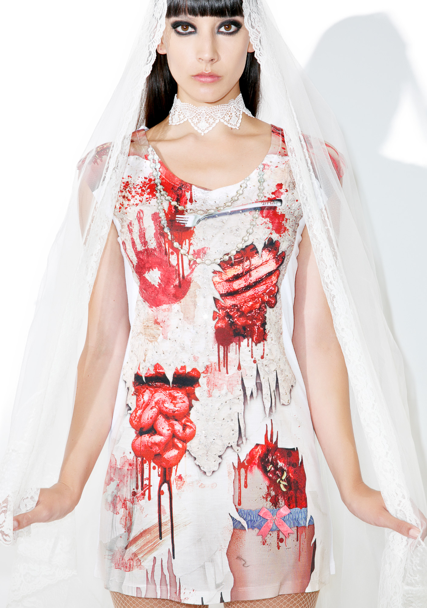 Ladies Zombie Bride Tshirt