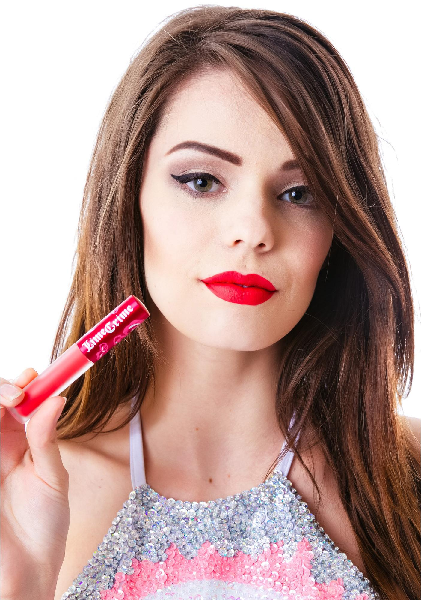 Lime Crime Cupid Velvetine Liquid Lipstick: Lime Crime Red Velvet Velvetine Liquid Lipstick